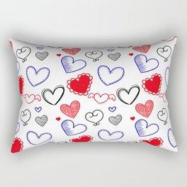 Draw hearts Rectangular Pillow