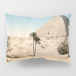 Vintage Pyramid : Grand Pyramid Gizeh Egypt 1895 Pillow Sham