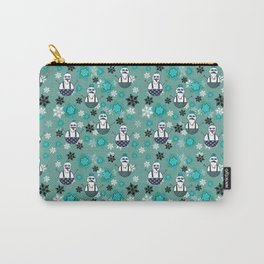 Hipster Snowmen Carry-All Pouch