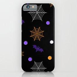 Halloween Webs and Bats iPhone Case