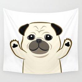 Hug Pug Wall Tapestry