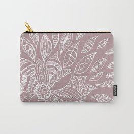 Scattered Petals on Vintage Backdrop Carry-All Pouch