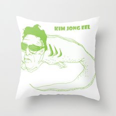 Kim Jong Eel Throw Pillow