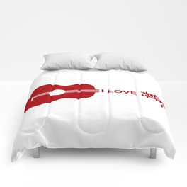 I love music #society6 #decor #buyart #artprint Comforters