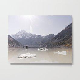 Aoraki Icebergs Metal Print
