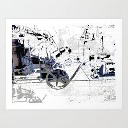 Cotton Spin  Art Print