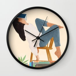 Lost in my books Wall Clock