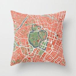 Tokyo city map classic Throw Pillow