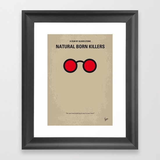 No139 My Natural Born Killers minimal movie poster Framed Art Print