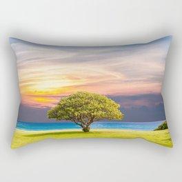 sitting alone Rectangular Pillow