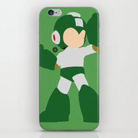 mega man iPhone & iPod Skins featuring Mega Man(Smash)Green by ejgomez