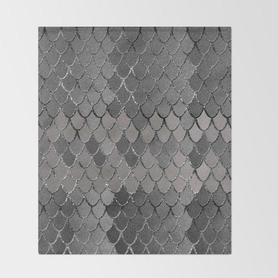 Mermaid Scales Silver Gray Glam #1 #shiny #decor #art #society6 by anitabellajantz