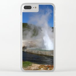 Thermal And Geyser Field Yellowstone NP Clear iPhone Case