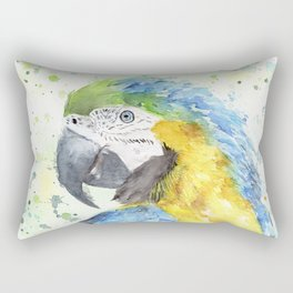 """Watercolor Painting of Picture """"Macaw"""" Rectangular Pillow"""