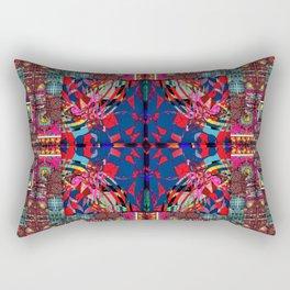 291 multicolored aqua  red blue Rectangular Pillow