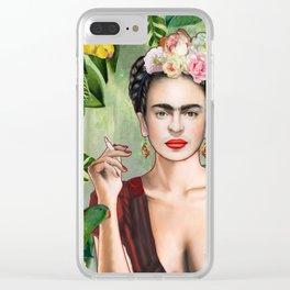 Frida con Amigos Clear iPhone Case
