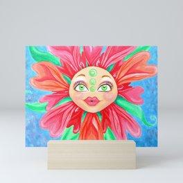 Doll Face Flower Mini Art Print