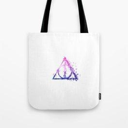 Deathly Hallows galaxy paint drops - Potterhead - elder wand, invisibility cloak, resurrection stone Tote Bag