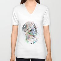anime V-neck T-shirts featuring Anime 3  by Del Vecchio Art by Aureo Del Vecchio