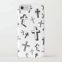 cross iPhone & iPod Cases featuring CROSS by Ellie Cryer