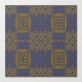 Goldblue Mandalic Pattern 3 Canvas Print