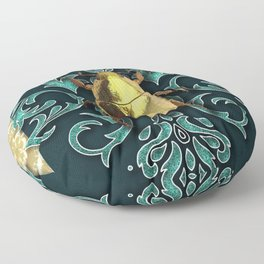 GOLDEN BEETLE Floor Pillow