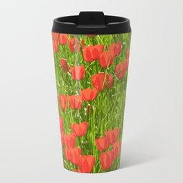 tulips field Travel Mug