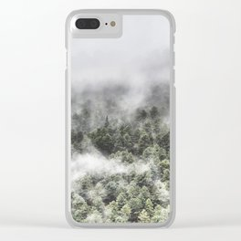 """""""Mountain light III"""". Foggy forest. Clear iPhone Case"""