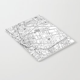 Vintage Map of Rochester NY (1901) BW Notebook