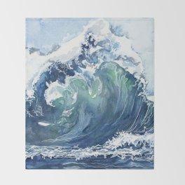 Kai's Wave Throw Blanket