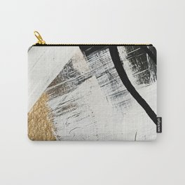 Armor [9]: a minimal abstract piece in black white and gold by Alyssa Hamilton Art Carry-All Pouch