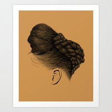 Crown: Twisted Updo with Bun Art Print