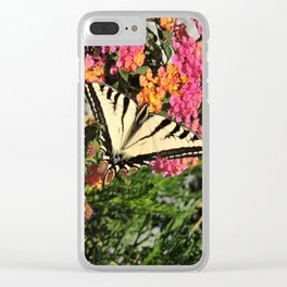 Swallowtail on Lantana Clear iPhone Case