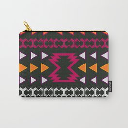 Native pattern in pink and yellow Carry-All Pouch