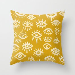 Mystic Eyes – Marigold Palette Throw Pillow