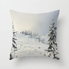 Cold Weather Fun Throw Pillow