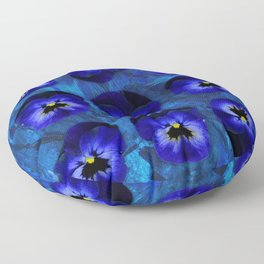 Deep Blue Velvet Floor Pillow
