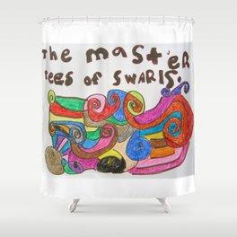 The Masterpiece of Swirls Shower Curtain