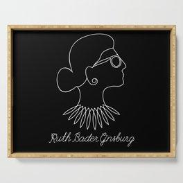 Notorious RBG Ruth Bader Ginsburg Serving Tray