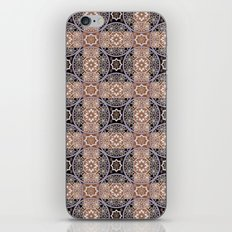 Brown lace ornament. iPhone & iPod Skin