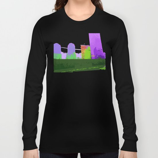 NY#2 Ground Zero, Purple Long Sleeve T-shirt