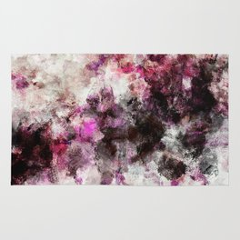Modern Abstract Painting in Purple and Pink Tones Rug
