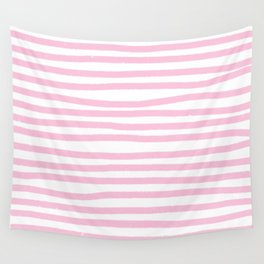 Pink Stripes Horizontal Wall Tapestry