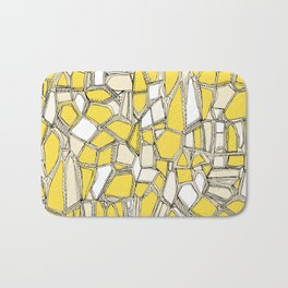 BROKEN POP lemon Bath Mat