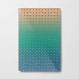 Polka Plankton Blue Metal Print