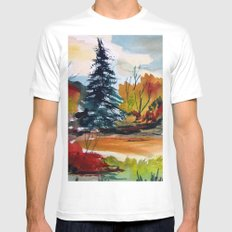 Autumn Color Mens Fitted Tee MEDIUM White