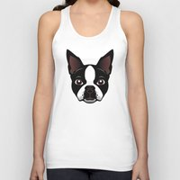 boston Tank Tops featuring boston by the art of dang