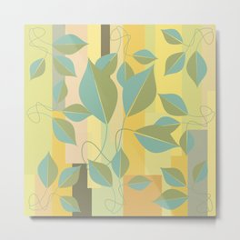 Leaves in color two Metal Print