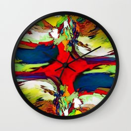 Red And Center Wall Clock