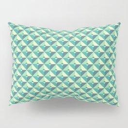 Green Triangles Pattern Pillow Sham